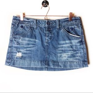 American Eagle Button Fly Denim Skirt